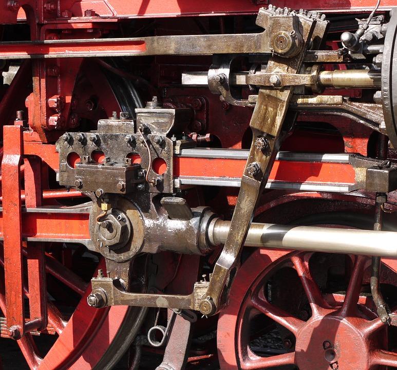 Steam Locomotive, Triebwek, Drive, Linkage, Wheel