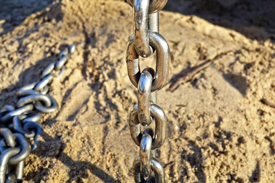 Chain, Linked, Chain Link, Connection, Metal, Iron
