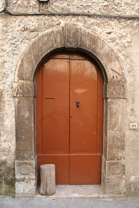 Door, Portal, Entrance, Stone Arch, Lintel
