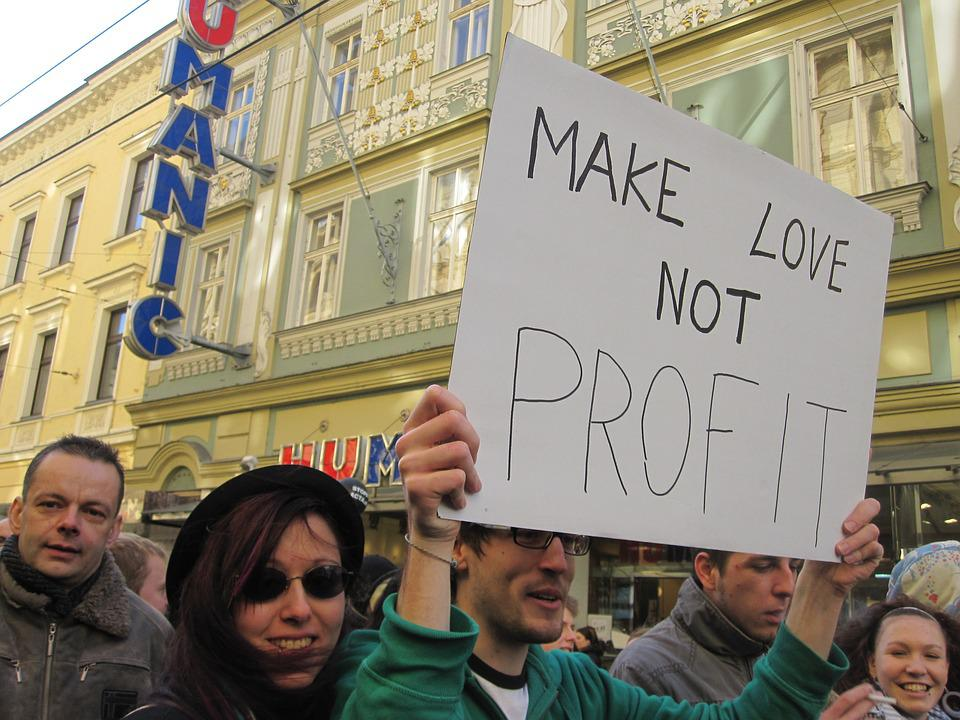 Love, Demonstration, Profit, Protest, Shield, Linz