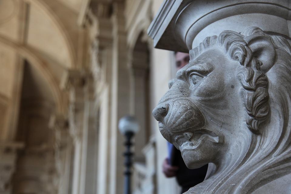 Lion, Sculpture, Architecture, Paris