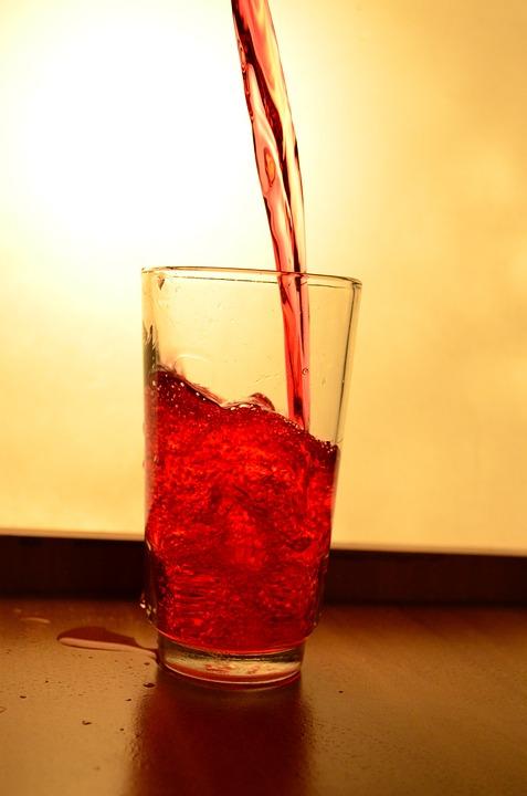 Liquid, Red, Juice, Glass, Splash, Pouring, Alcohol