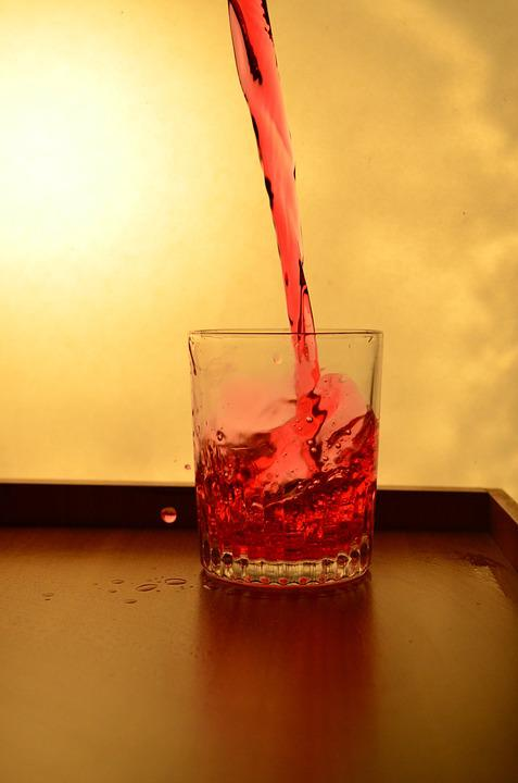 Splash, Glass, Liquid, Red, Pouring, Alcohol, Drink