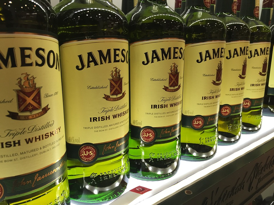 Jameson, Drink, Liquor, Bottle, Bar, Alcohol, Beverage