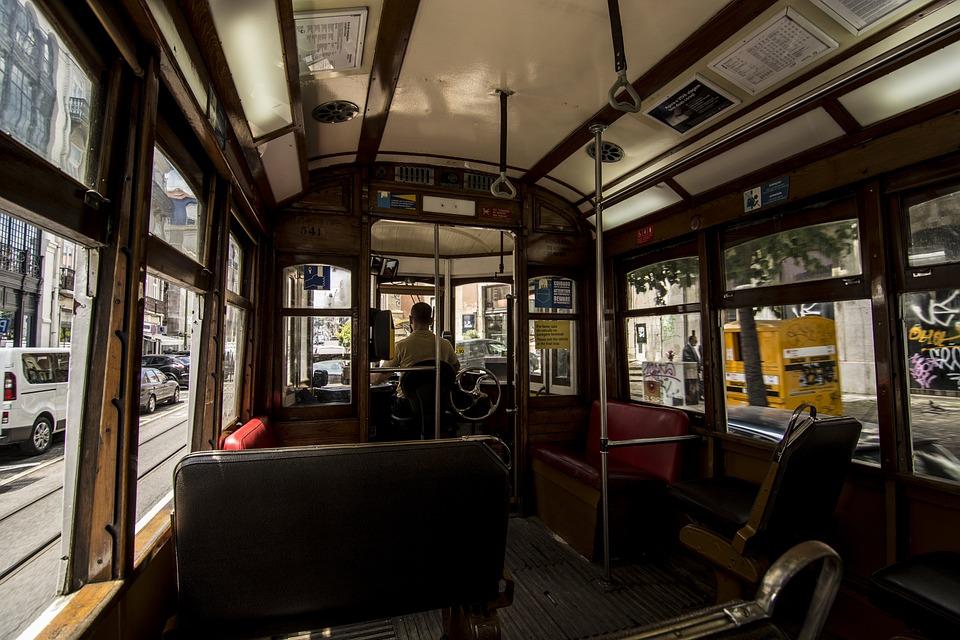 Lisabon, Tram, Portugal, Traffic, City