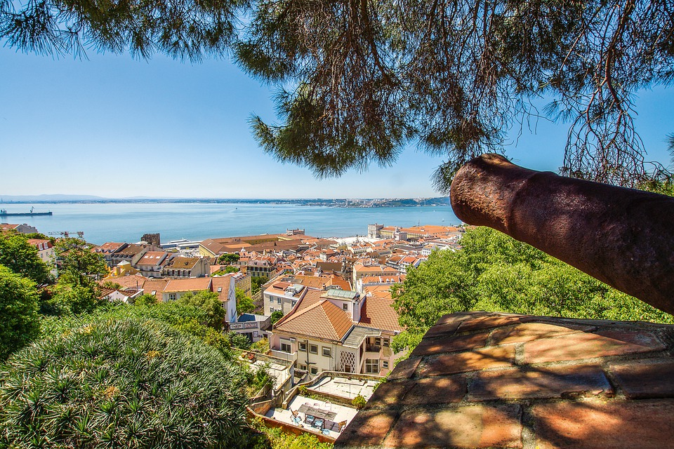 Lisbon, Castello, Saojorge, Castle, Portugal, Lisboa