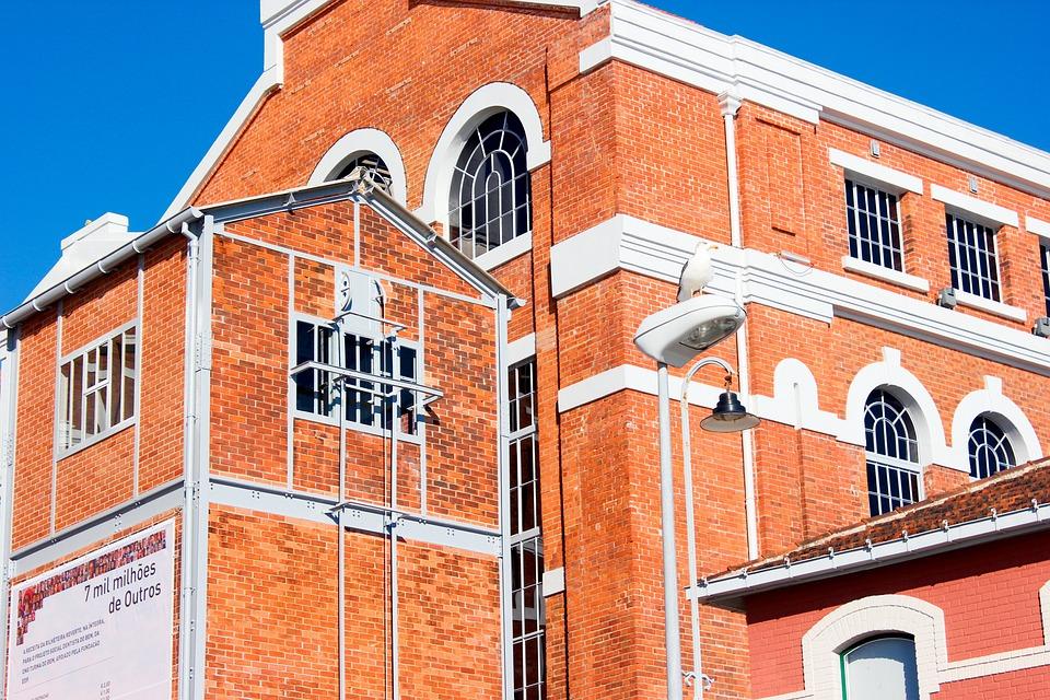 Building, Bricks, Museum, Lisbon, Architecture