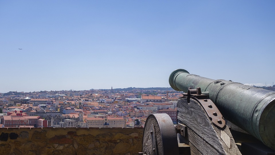 Gun, Lisbon, View, Portugal, Holiday, City