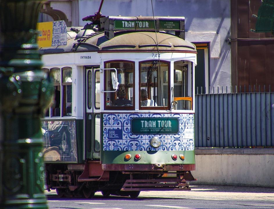 Lisbon, Tram, Portugal, Historic Center, Transport