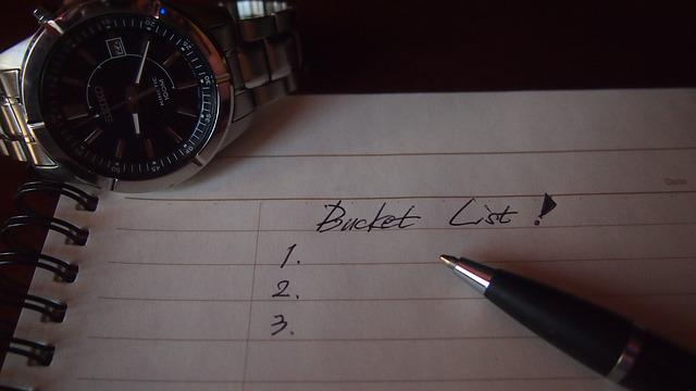 The Bucket List, Anything You Want To Do, Notes, List
