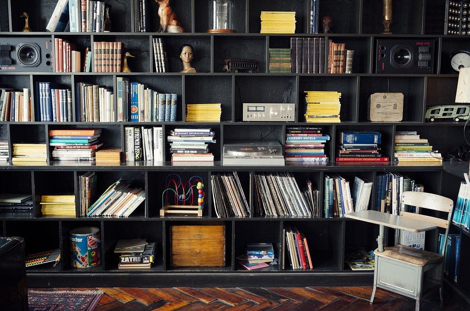 Bookshelf, Library, Literature, Books, Knowledge