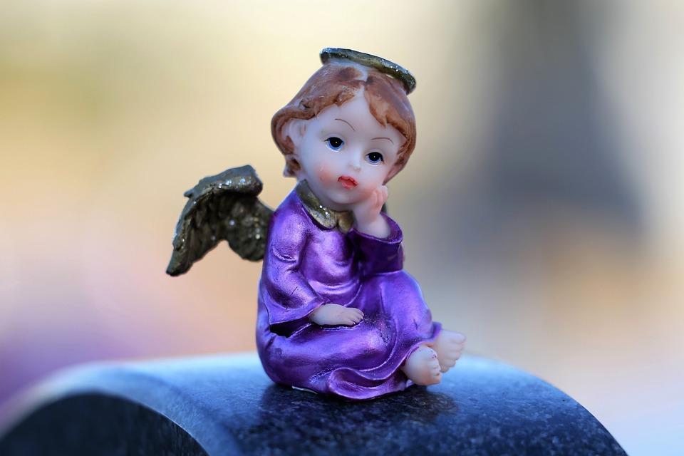 Little Angel On Gravestone, Wings, Figure, Decoration