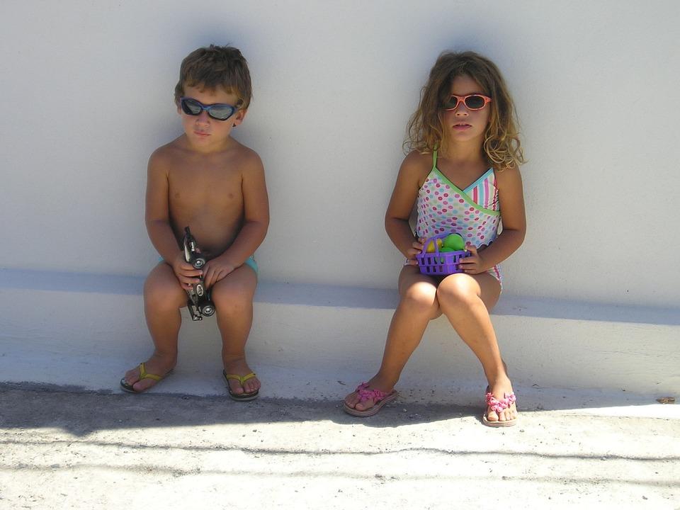 Sunny Day, Kids, Sunglasses, Summer, Little, Child