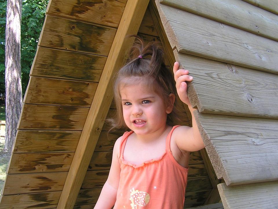 Balatonfüred, Children's Playground, Little Girl