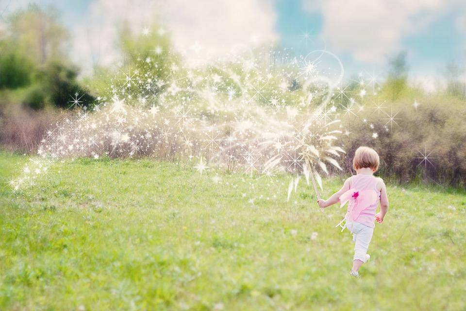 Little Girl, Magic, Glitter Trail, Enchanting, Summer