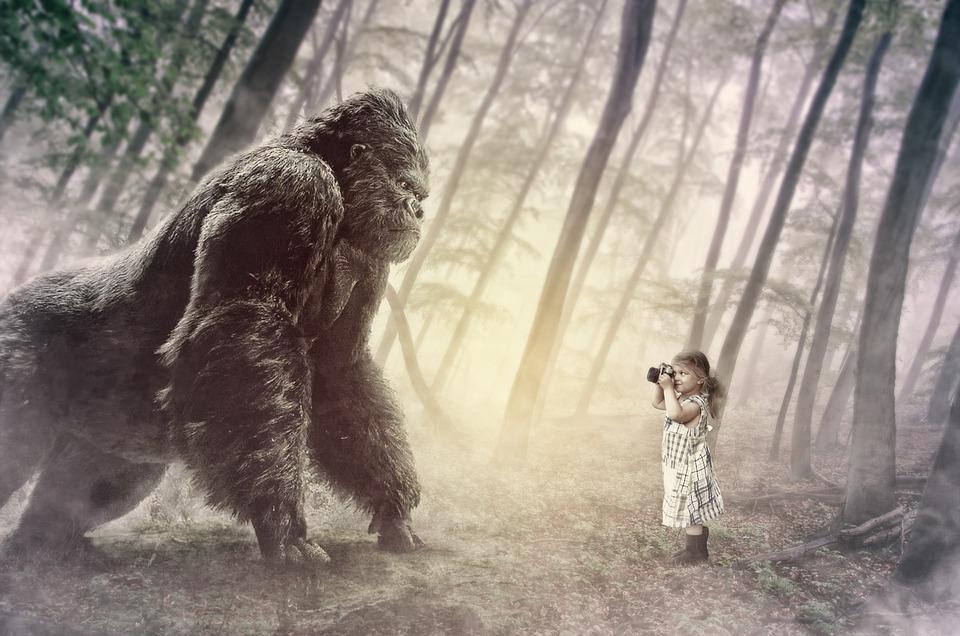 Kong, Guerrilla, Little Girl, Little, Jungle, Erawan