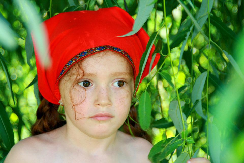 Girl, Red, Little Red Riding Hood, Forest, Story
