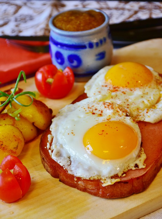 Fried, Egg, Liver Cheese, Mustard, Ingredients