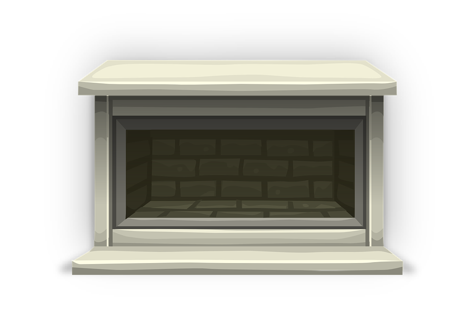 Fireplace, Mantel, Brick, Living Room, Heat, Cozy