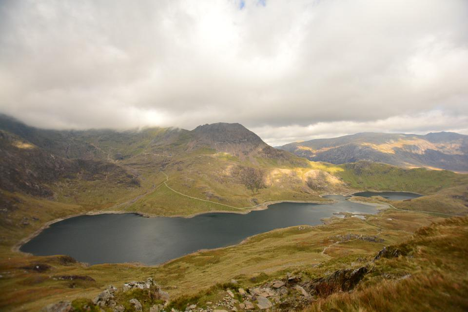 Snowdon, Llyn Llydaw, Wales, Snowdonia, Uni, Nature, Uk