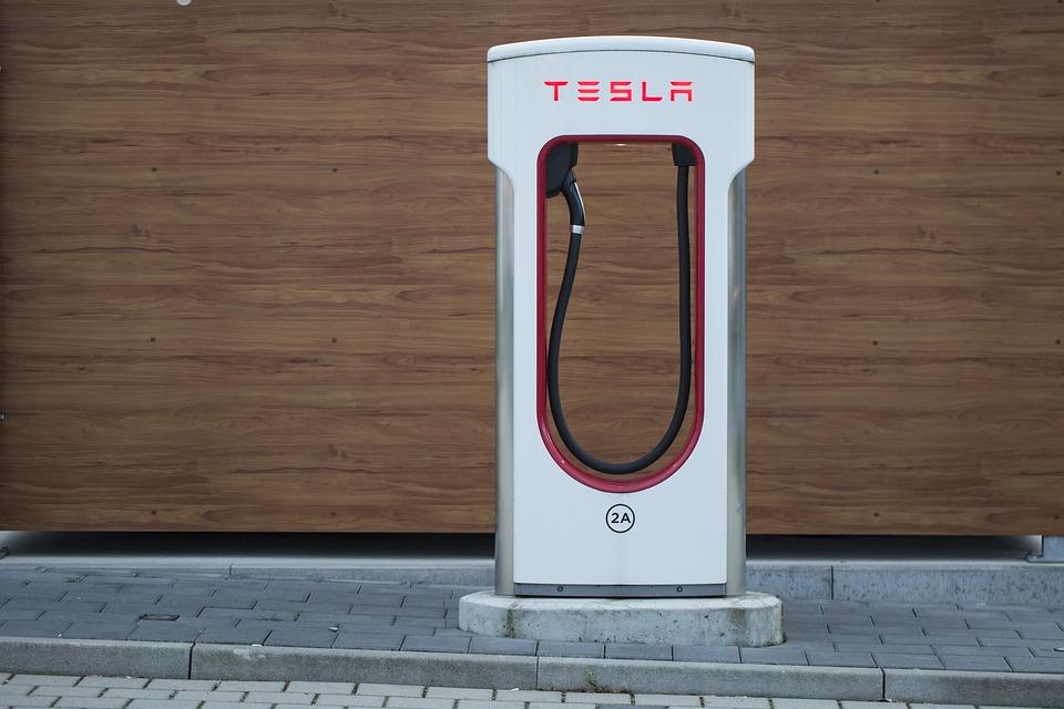 Tesla, Electric, Charging Station, Loading Point