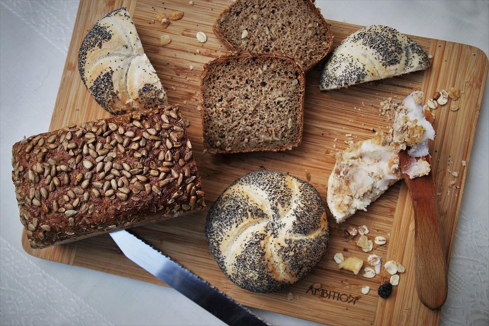 Bakery, Bread, Knife, Cutting, Loaf, Crispy, Baked