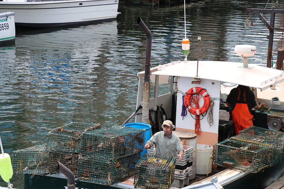 Lobster Traps, Lobster Fishing Boat, Portland Maine