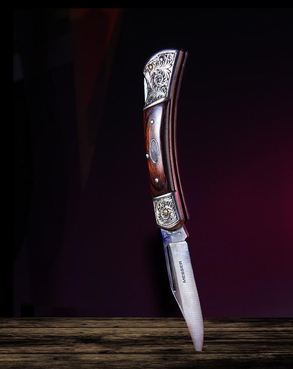 Knives Pocket Knife, Light, Wood, Blade, Lock Blade