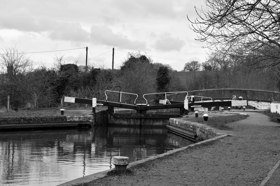 Canal, Lock, Channel, Water, Infrastructure, London