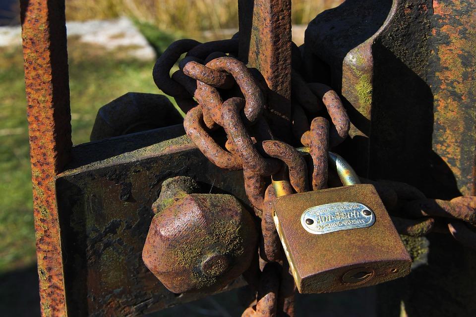 Rust, Gate, Door, Old, Lock, Rusty, Iron, Metal, Closed