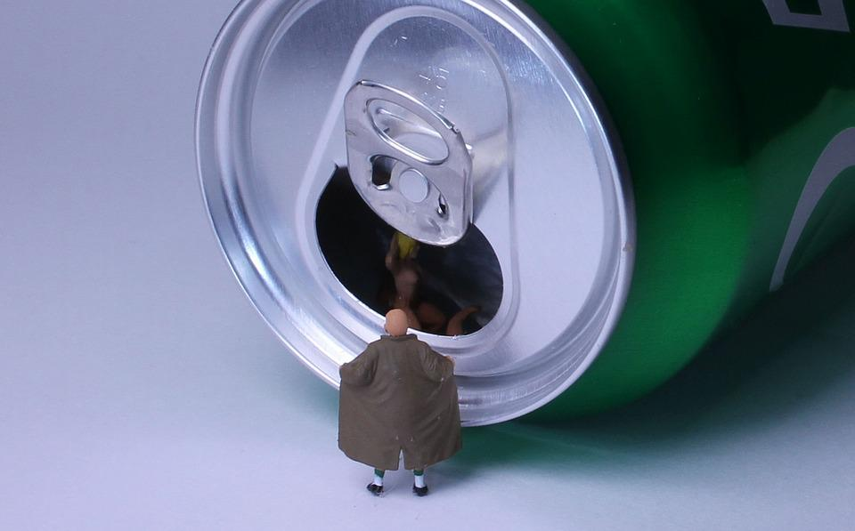 Beverage Can, Lock Ring, Miniature Figures