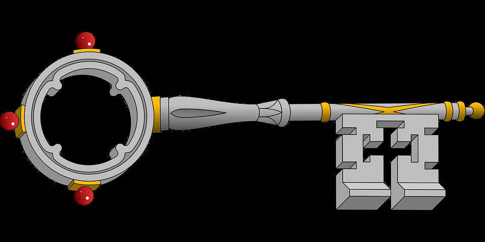 Key, Lock, Security, Silver