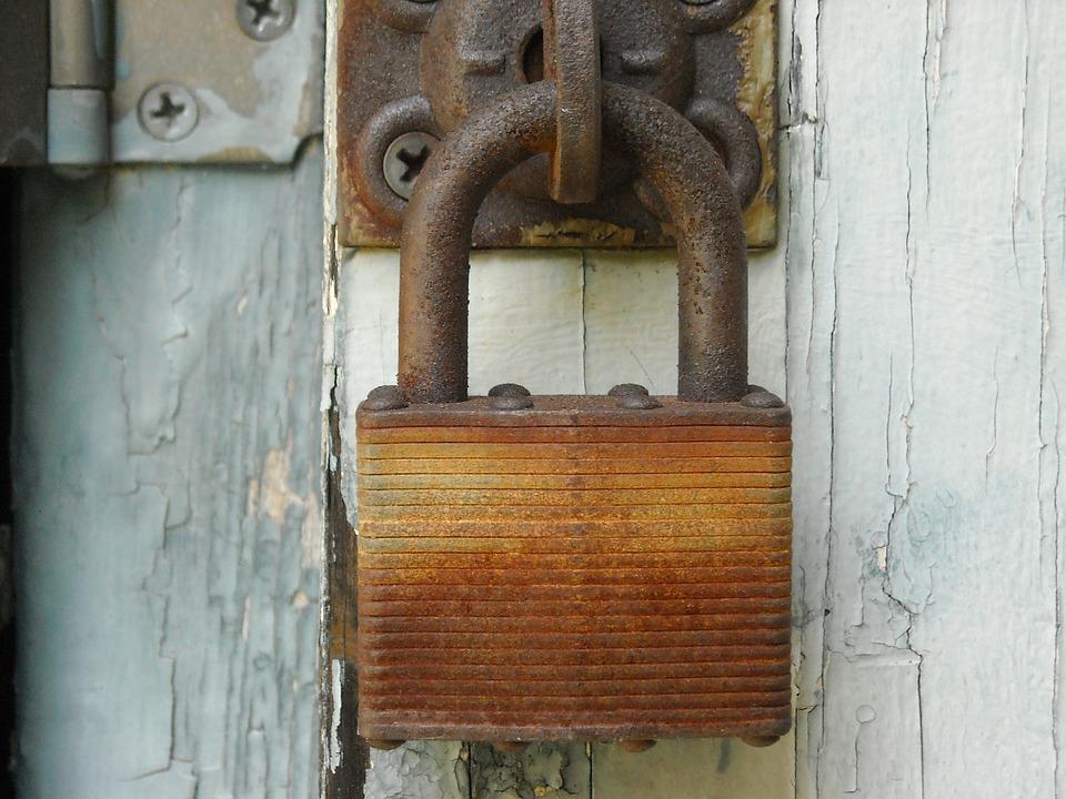 Lock, Rusted, Rusty, Rust, Padlock, Weathered, Old