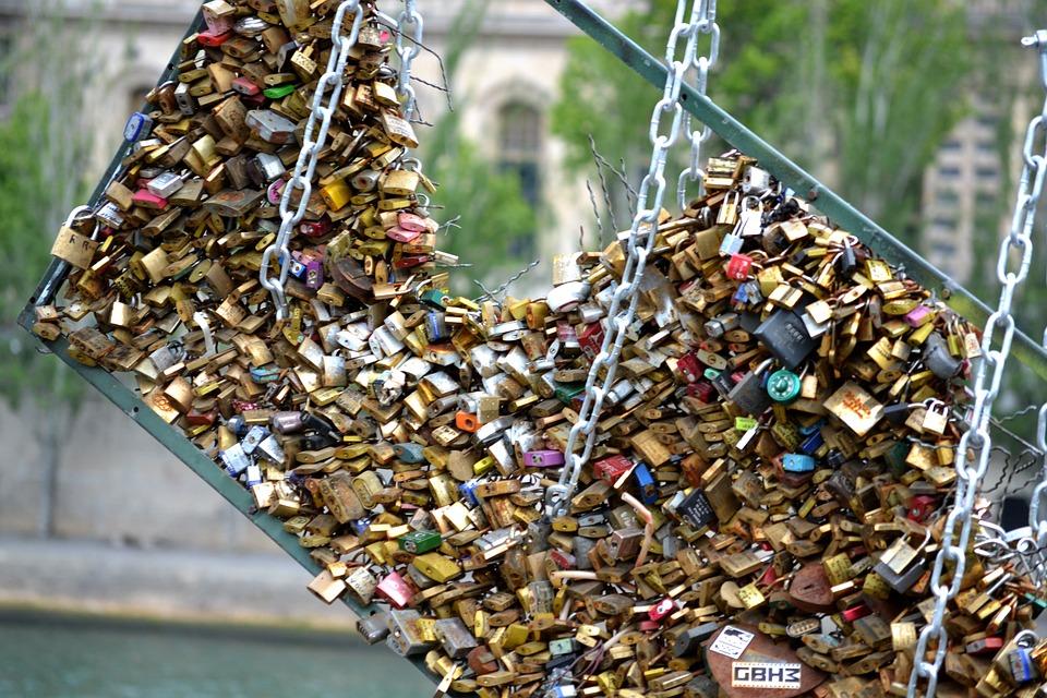 Love Locks, Locks Of Love, Paris Locks, Lock, Padlock