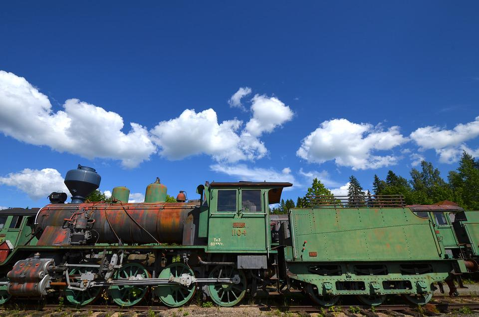 Locomotive, Old, Rust, Train, Vintage, Railway