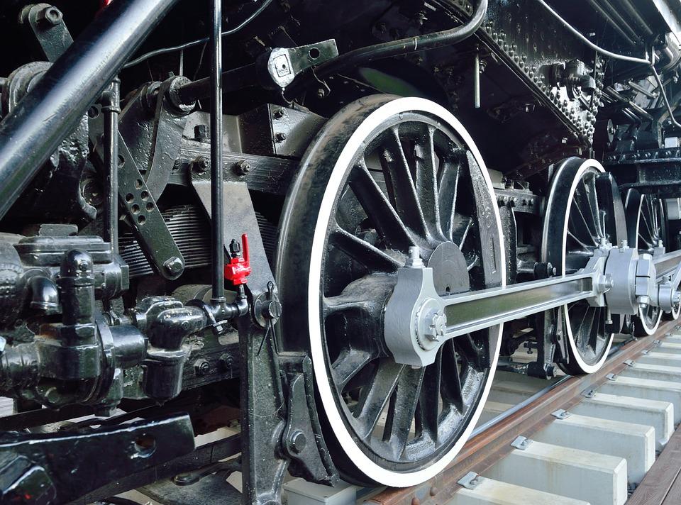 Wheels, Old Steam Engine, Railroad, Locomotive