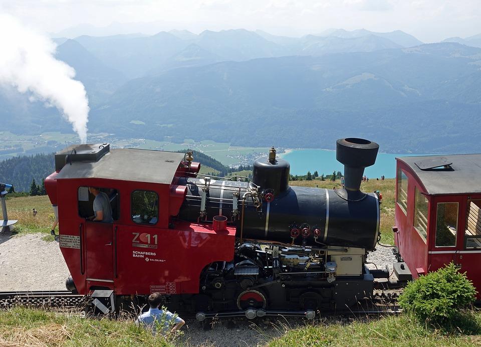 Schafberg, Locomotive, Schafbergbahn, Austria, Mountain