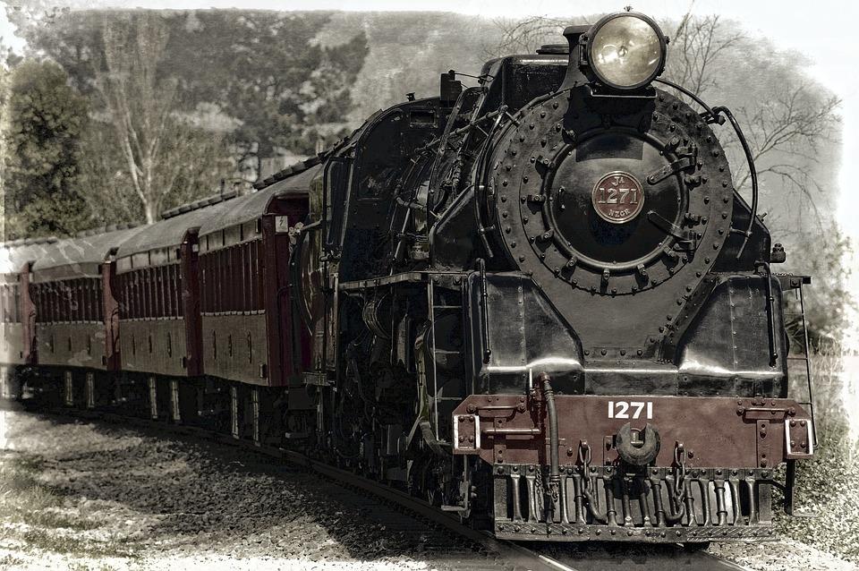Locomotive, Steam Locomotive, Train, Monument, Railroad