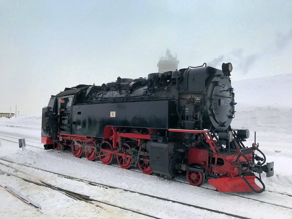 Locomotive, Motor, Transport, Railway Line, Train