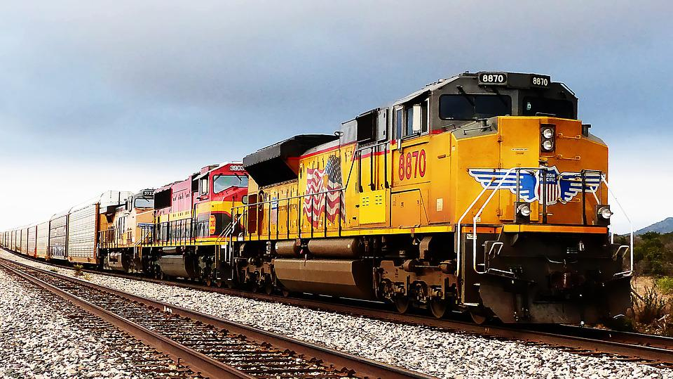 Train, American, Transport, Locomotive, Engine, Wagon