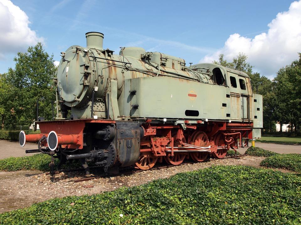 Krupp, Locomotive, Transportation, Railway, Old