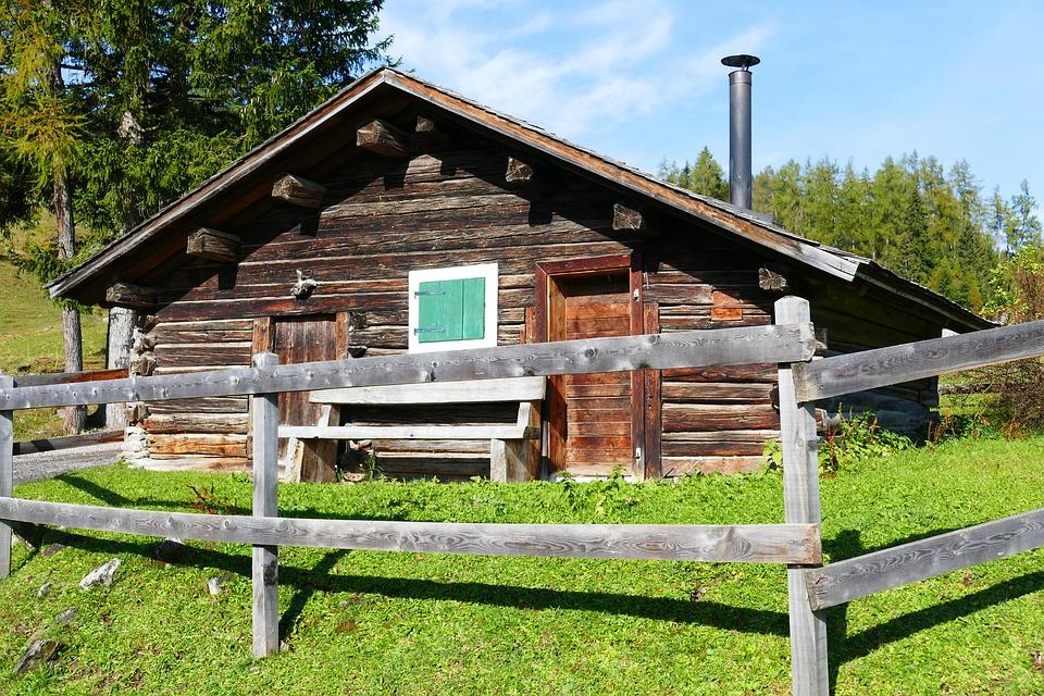Hut, Alpine Hut, Log Cabin, Wood, Alm