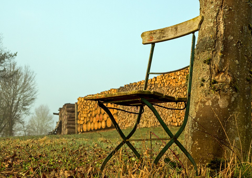 Pile Of Wood, Folding Chair, Log, Holzstapel, Wood