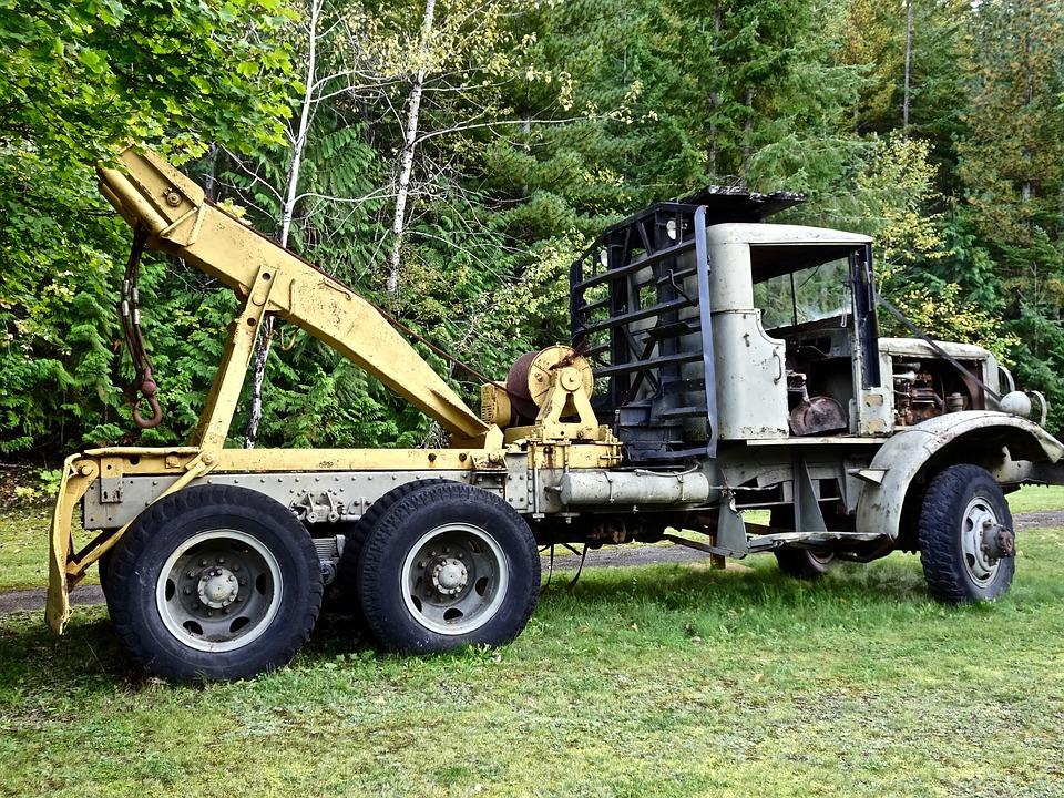 Free Photo Log Truck Logging Vehicle Trailer Wood Transport Max