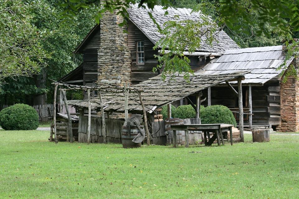 Cabin, Frontier, Log, Vintage, Rustic, Wood, Rural