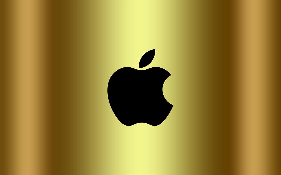 Free Photo Logo Apple Logo Background Golden Apple Wallpaper Max Pixel