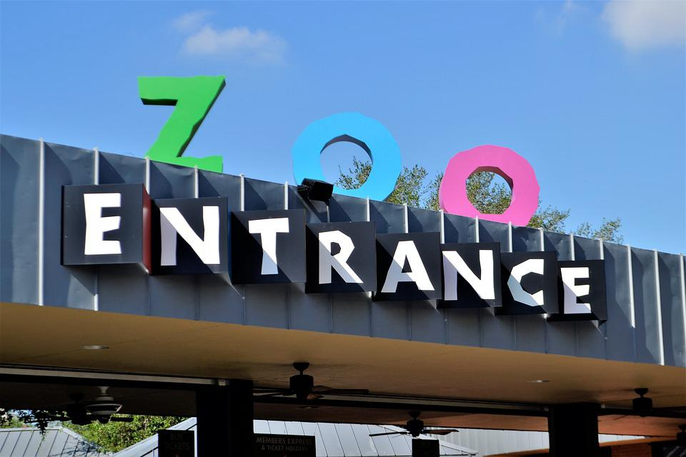 Herman Park Zoo Entrance Houston Texas Logo Awning