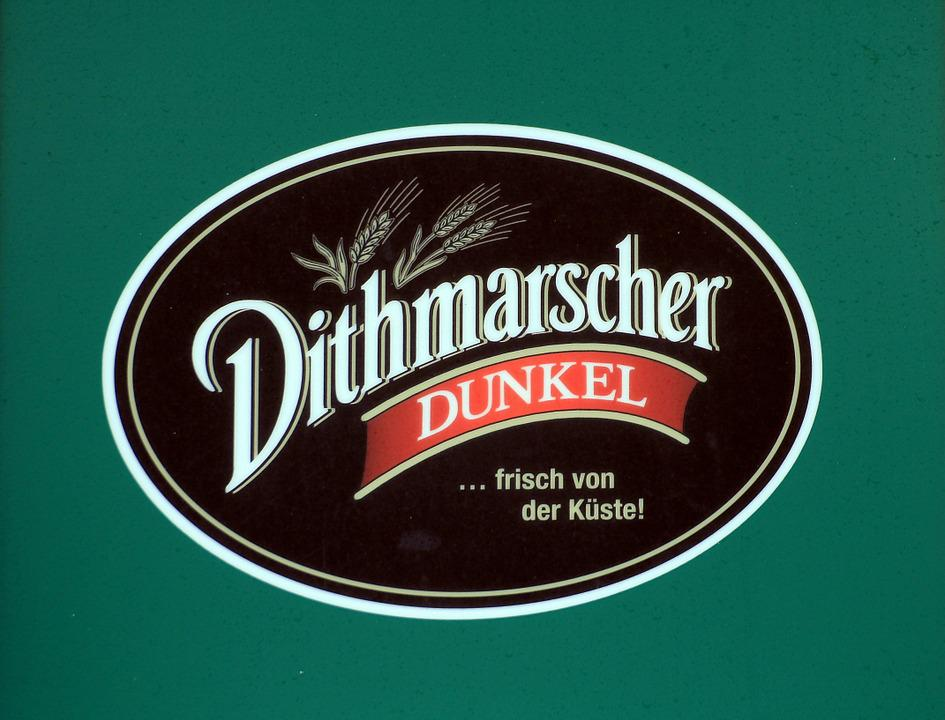Dithmarsch, Beer, Dark, Shield, Advertising, Logo