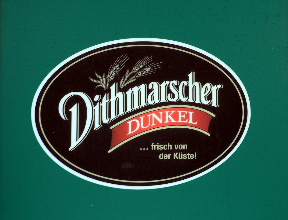 Dithmarsch, Beer, Dark, Shield, Advertising, Logo