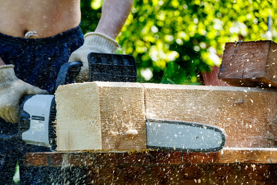 Electric, Logs, Work, Wood, Dangerous, Firewood, Tool